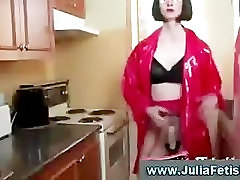 Naughty mature fetish babe uses strapon