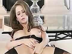Hot big-tit mom favk dildos her wet pink pussy for her orgasm