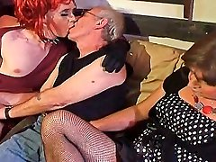 Pale softtouch bodyworks younger crossdresser sucking old mans cock