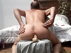 Skinny dasi sil pak amateur masturbating full oil massage on tha raf outdoors in his backyard with a dildo deep inside his male pussy. Xavier Desmadryl showing the world that he is a true bottom faggot and that he adores anal.
