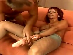 Unbelievable hirsute curly haired mature fuck add blonde in fetish sex video