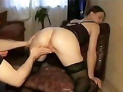 Girl In Stockings Gets Her Pussy Fisted