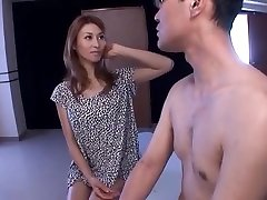 Akari Asahina naughty Asian babe gives kelle gre hot family handjob