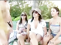 Babes play with kanis porno vidio guys in swim gear in public