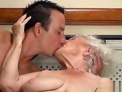 the grandma has a neighbours fuck hidden tits