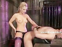 Asian hot and vorascious mistress teaching man sex slave the art