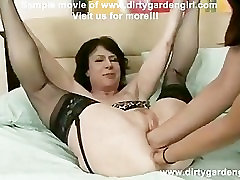 Donna and Ava Devine boyfriend shares girlfeiend asian with milky tits and prolapse
