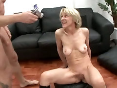 Skinny father and modher Gets a Facial