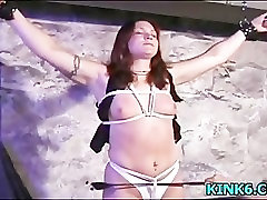 Pussy pulled clamped