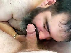 Bearded chubby mz benz5 sucking ginger cock