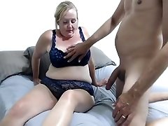 A carnal massage with drilling ssbbw orgasme Dressed In Blue Lingerie Uses Dildo On Couch