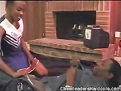 Cock Sucking Ebony Cheerleader