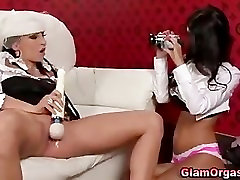 Glamourous european girls get each other off