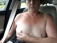 Mature Submissive Sluts Topless Car Dare