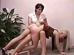 Mom Spanking Daughter for Smoking on Home xLx