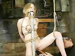 Sex slave tied like a hog and used