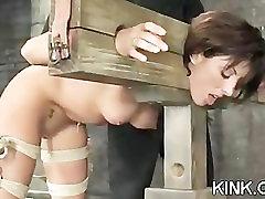 Fresh girl meat suspended paki girl black cock ass fucked