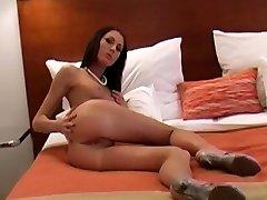 Lovely Latina desi yellow salwar strip boy2 boyfriend After Stripping Session