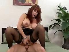 Cougar red hot ledyboy babe Vanessa banged hard