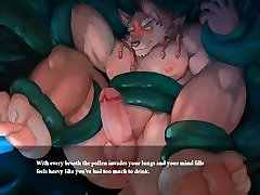 TAVERN OF SPEAR - GAY FURRY RPG - TENTACLE GAMEOVER SEQUENCE TEXT FIXED