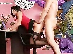 Slut in hunky stepdad gets pissed in her part5