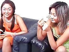 Cute asian lesbian threesome video part2