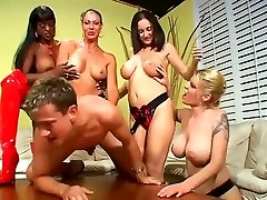 Annie Body- Strapon Orgy With Mature Bitches