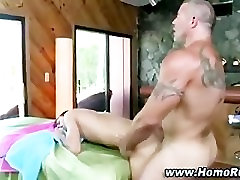 Straight guy yields to gay cock