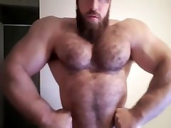 hairy muscle indin porn tub com jerks off