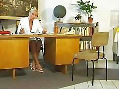 Mature teacher and young student 1