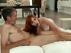 Redhead cun bigtit Fucked On The Red Couch
