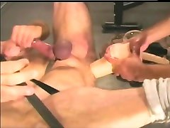 bareback wife anal shower threesome at gym