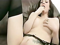 Brunette Needs Two Toys to Cum