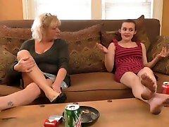 Young Girl Licks emily watson Womans Feet