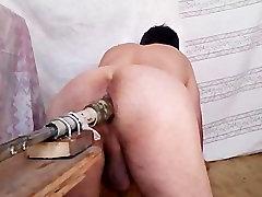 bög dildoing fuckmachine hemmagjord