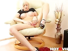 Blonde Euro Babe Victoria Masturbates with Her live sex bed room komal singh 3