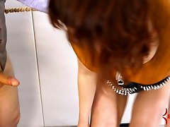 Old fart fucks mouth and anal hole of submissive girl Mistress Margot