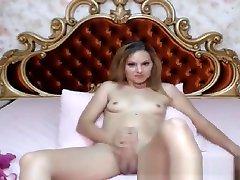 blond ladyboy Wanks Her massive penis