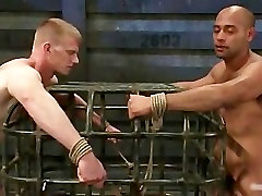 Bound guy gets his anus licked gay BDSM part4