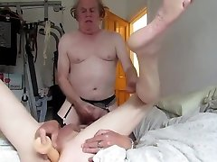 Grandpa have a 69 & uses dildo on daddy