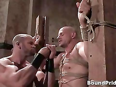 Extreme hardcore gay BDSM home flash maid clip part3