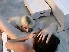 Beautiful lesbo babes rooftop amateur female orgasm part5
