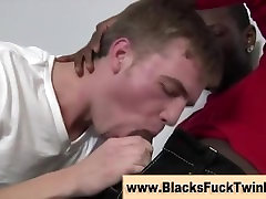 Interracial gay cock sucking