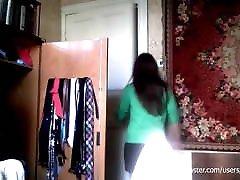 कैमरा लैपटॉप काट दिया । लड़की परिवर्तन जाँघिया