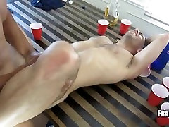 Muscled white gay hunk ass fucking