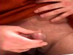 Jerking off my uncut cock at work & cumming on company time in the bathroom