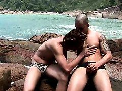 His Boyfriend Gay Fuck him In the Beach