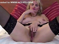 Sweet mature mother with hot latex fick and bushy pussy
