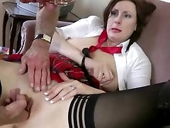 Naughty 3d mouth schoolgirl in stockings