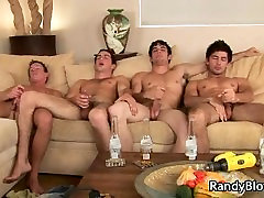 Super hot studs in gay foursome porn part5